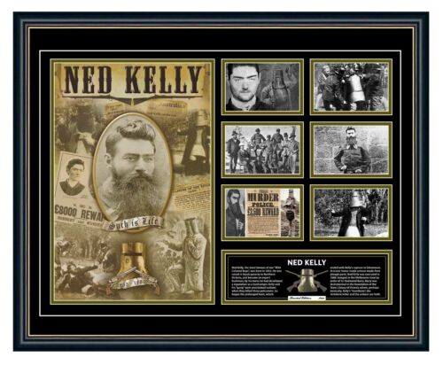 NED KELLY THE IRON OUTLAW POSTER LIMITED EDITION FRAMED MEMORABILIA
