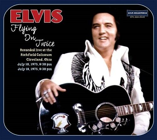 ELVIS PRESLEY - FLYING IN TWICE  -  E.P. Collector Label