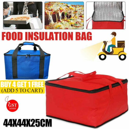 "16"" Pizza Delivery Bag Insulated Thermal Food Storage Delivery Holds Pizza AUS"