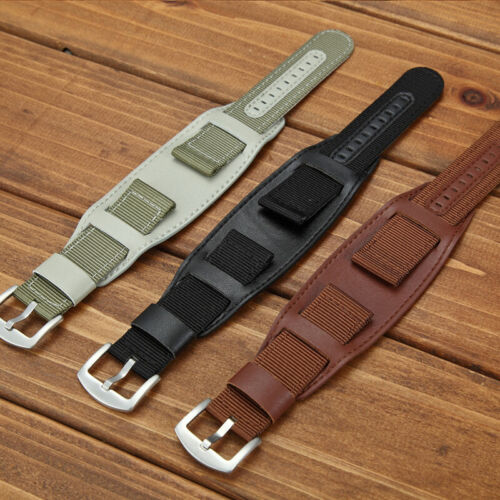 18/20/22/24mm Nylon Watch Band Strap Replacement Wristband Sport Pin Buckle