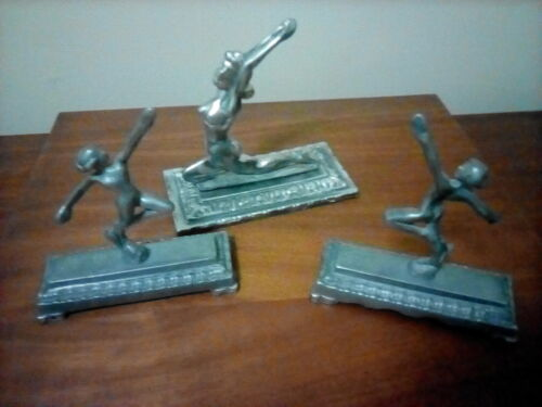Art deco style Metal decorative figures woman