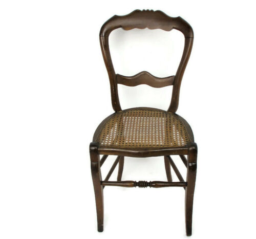 Thonet Style Chair Bistro Ice Cream Parlor Cane Rush  Seating Plywood Wood