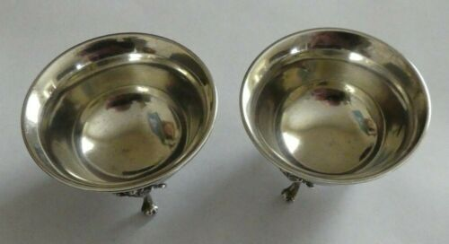 Gorham Pair Antique Coin Silver Footed Salt Cellars