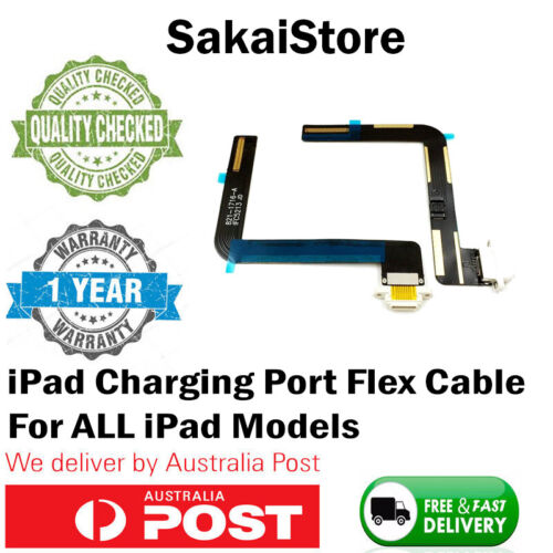 Charging Port Flex Cable For Apple iPad 1 2 3 4 5 6 Mini Air Black White