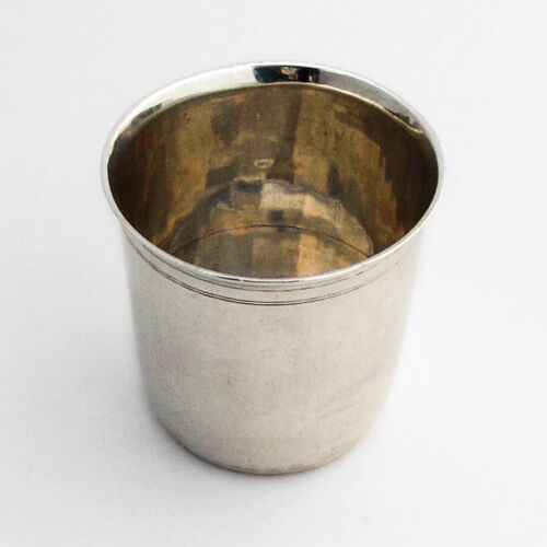 Late 18th Century Beaker French Export Sterling Silver Mono PL