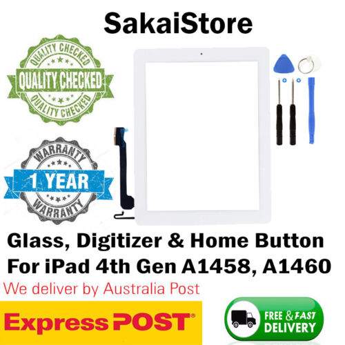 Digitizer Touch Screen Front Glass For Apple iPad 4th Gen A1458 & A1460