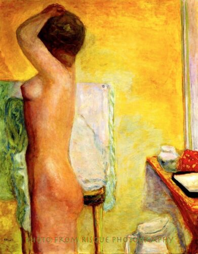 """Nude Woman With Yellow Background 8.5x11"""" Photo Print Pierre Bonnard Naked Art"""