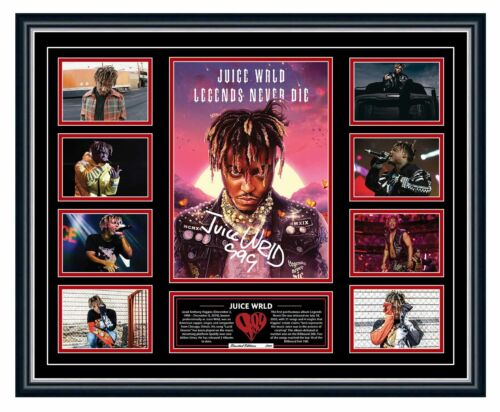 JUICE WRLD 2020 LEGENDS NEVER DIE SIGNED LIMITED EDITION FRAMED MEMORABILIA