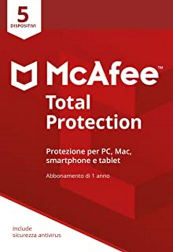 McAfee Total Protection  5 PC 1 ANNO  2021