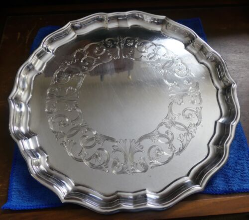 Very Rare Birks Sterling Silver Large Platter Mappins