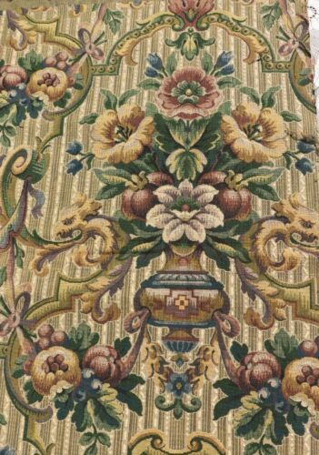 """French Antique 19thC """"Beauvais Style Jacquard Tapestry Fabric Sample~28"""" X 31"""""""