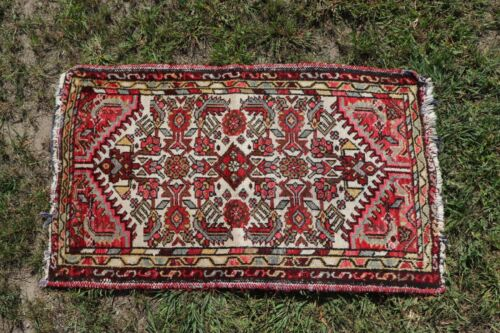"Antique 19thC Handmade Heavy Rug~Persian-Turkey?~L-38"" X W-23"""