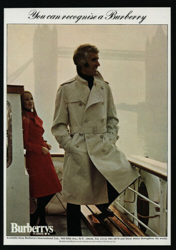 1973 BURBERRYS Of London Trenchcoats VINTAGE AD