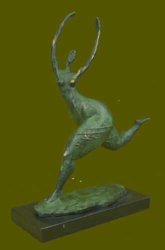 Verde Patina Abstract Moderno Art Paffuto Woman Bronzo Scultura Statuina Cera