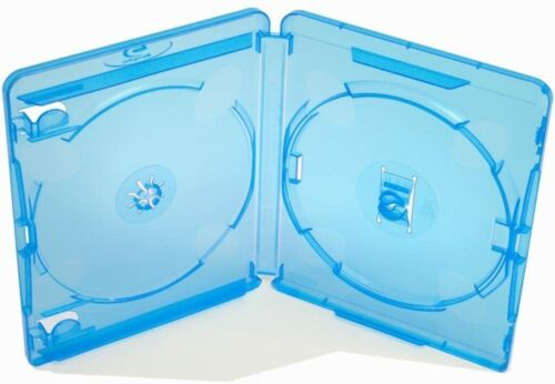 Case for Blu ray retail 2 discs 15mm spine replacement - 2 Pack Blue   ZedLabz