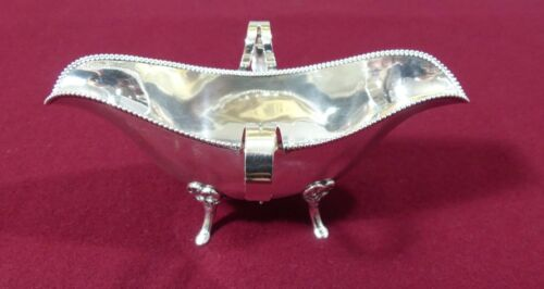 Baltimore Silver Co. Sterling Bead Pattern 2 Handle Sauce Boat