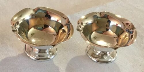 Pretty Pair HM Sterling Silver Salts.B'ham 1902.William Hutton. For Hardy Bros.