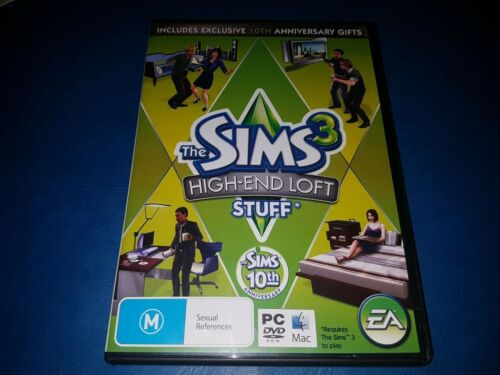 The Sims 3 High-End Loft Stuff Expansion Pack PC DVD ROM MAC GAME IN VGC