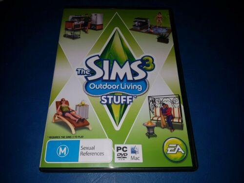 Sims 3: Outdoor Living Stuff – Expansion Pack PC DVD ROM MAC GAME IN VGC
