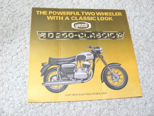 1970's YEZDI D250 (INDIA) SCOOTER SALES BROCHURE.