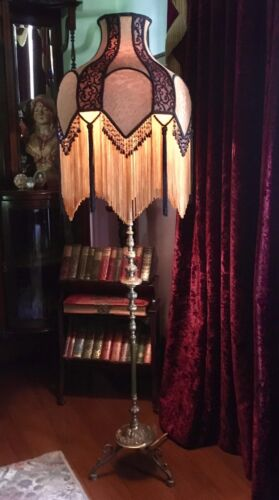 ART DECO STYLE NEW HAND CRAFTED LACE  SHADE FOR FLOOR LAMP