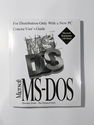 Microsoft MS DOS - Unopened Vintage Software - With Certificate of Authenticity