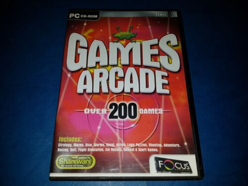 GAMES ARCADE - OVER 200 GAMES - PC CD-Rom Game
