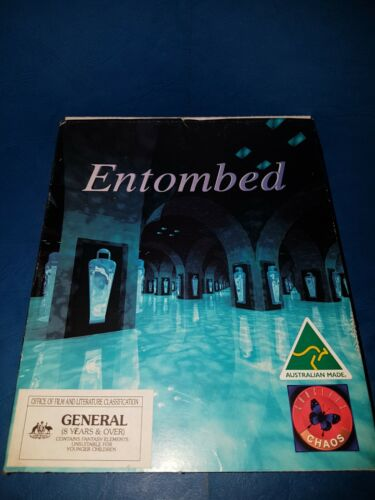 Vintage ENTOMBED WINDOWS WIN 3.1 PC Computer Game Original Box IN VGC