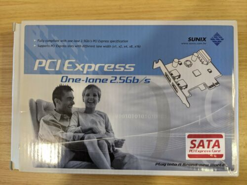 Sunix Sata2400 PCI Express 2 Port Sata HDD Card Raid 0 1