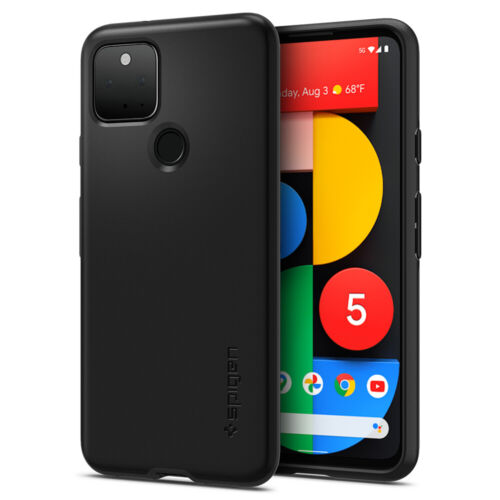 Google Pixel 5 Case | Spigen® [Thin Fit] Protective Cover Black