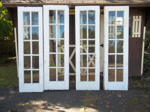 HOLIDAY SALE 2 SETS OF ANTIQUE FRENCH 10 PANE, EXTERIOR,  DOORS APPROX, 24 X 83,