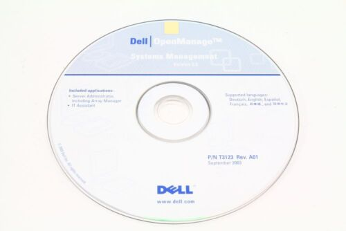 Dell P/N T3123 Openmanage Systems Management Version 3.5 Rev A01 September 2003
