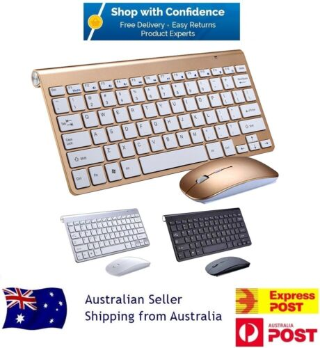 2.4GHz USB Wireless Ultra Slim Keyboard and Mouse Combo Set For PC Laptop Mac