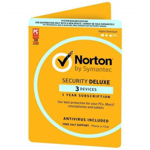 Norton by Symantec Security Deluxe 3 Devices 1 Year Subscription