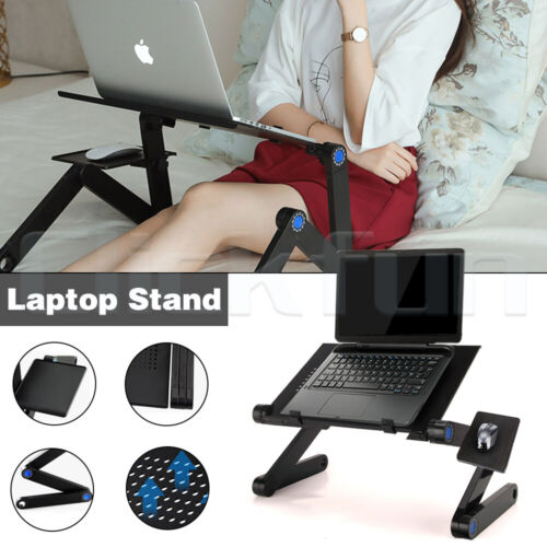 Adjustable Foldable Laptop Stand Portable Table Bed Sofa Desk Mouse Pad Tray AU