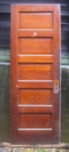 """4 available 28""""x78"""" Antique Vintage Old SOLID Wood Wooden Interior Door 5 Panels"""