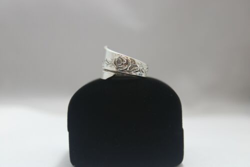Sterling, Silver, Spoon Ring, Jewelry, Classic Rose,  Reed & Barton (bin.#58)