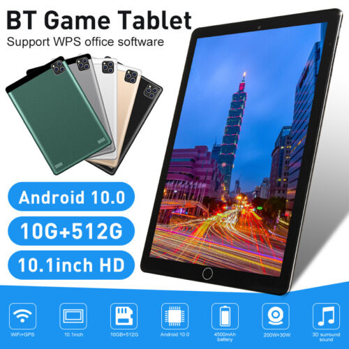 Android 10.0 Deca Core 10.1 Inch HD 1080P Tablet Bluetooth GPS Wifi Dual Camera