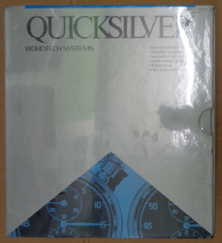 Quicksilver, by WordTech Systems. dBaseIII compiler - BRAND NEW, SEALED. 1988