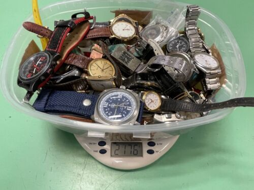 Chatarra relojes vintage watch mixed LOT lote joblot trabajo DON'T TESTED AS IS2