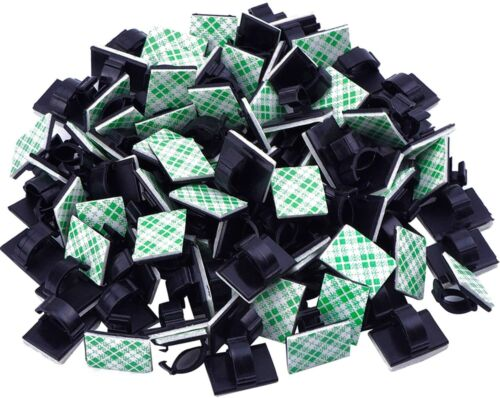100Pcs Cable Clips Self-Adhesive Cord Management Wire Holder Organizer Clamp US