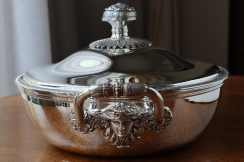 TALLEYRAND CHRISTOFLE DISH PLATE TRAY BOWL Silver plated Vegetable lid NEW