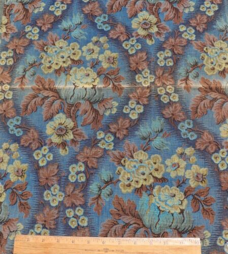"""Vintage French c1920-1930 Cotton Jacquard Floral Tapestry Sample Fabric~24""""X19"""""""