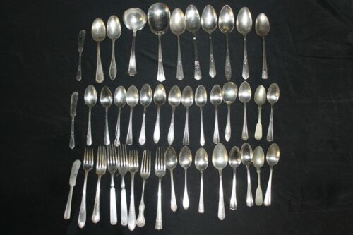 Vintage Silverware Pattern Assortment Silver Plate Utensil Flatware Lot Crafts 4