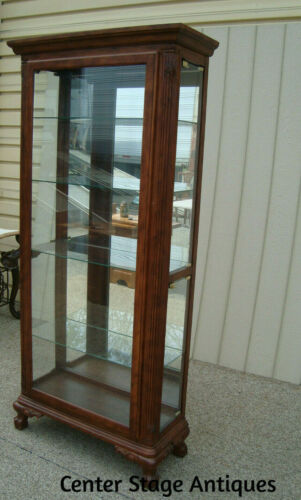 60015  Cherry Curio Cabinet China with Side Loading Doors