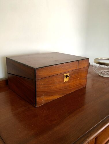 Antique Writing Box with Key
