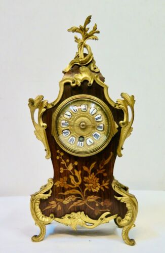 19th Century French Marquetry Table Clock
