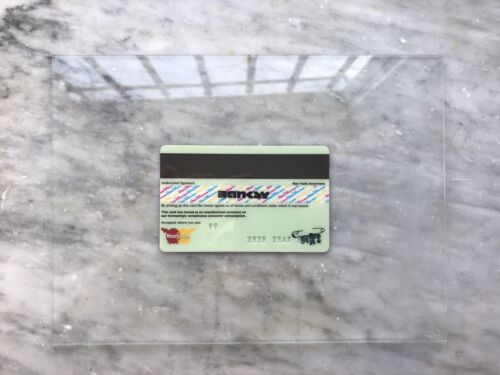 ORIGINAL D*FACE American depress card Signed By Banksy from Dismaland 2015