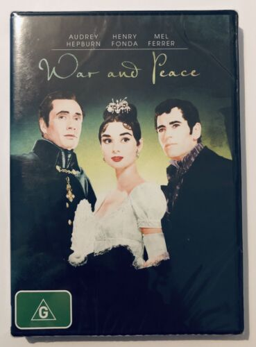 War And Peace 80 Years Of Audrey Hepburn DVD NEW & SEALED** Rated G Movie 🍿