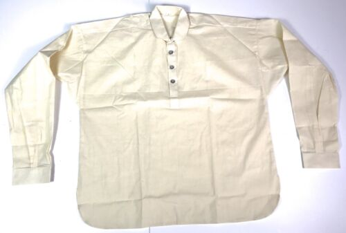 INDIAN WARS FOUR BUTTON OFF WHITE MUSLIN SHIRT-XLARGEReproductions - 156384